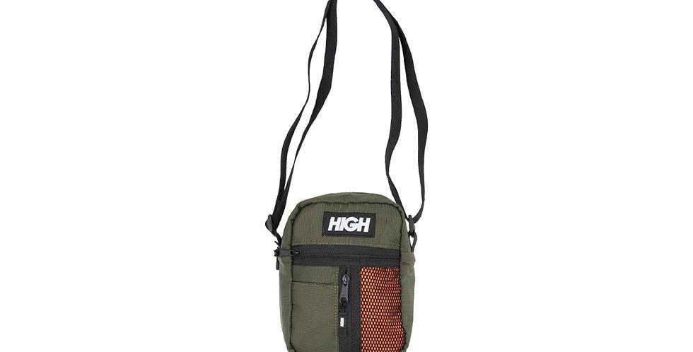 Shoulder Bag HIGH Side Block - Olive Green /Orange