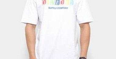 Camiseta Diamond Building Blocks - White