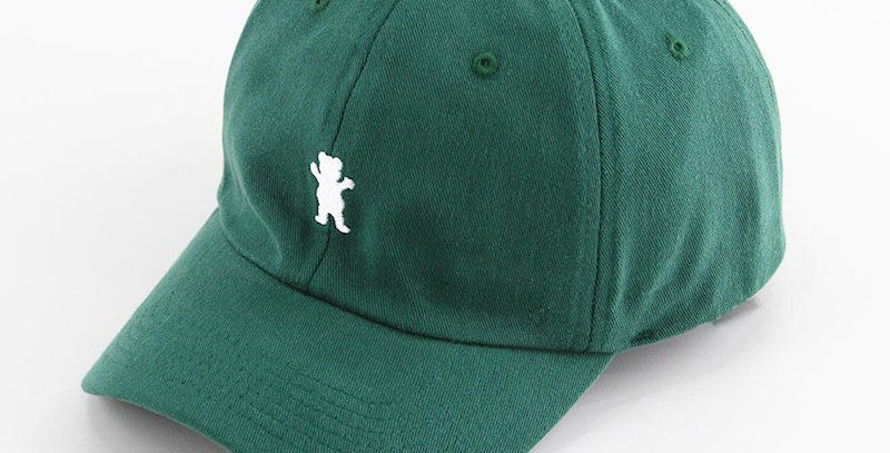 Boné Grizzly OG Bear Logo Dad Hat Strapback - Forest Green