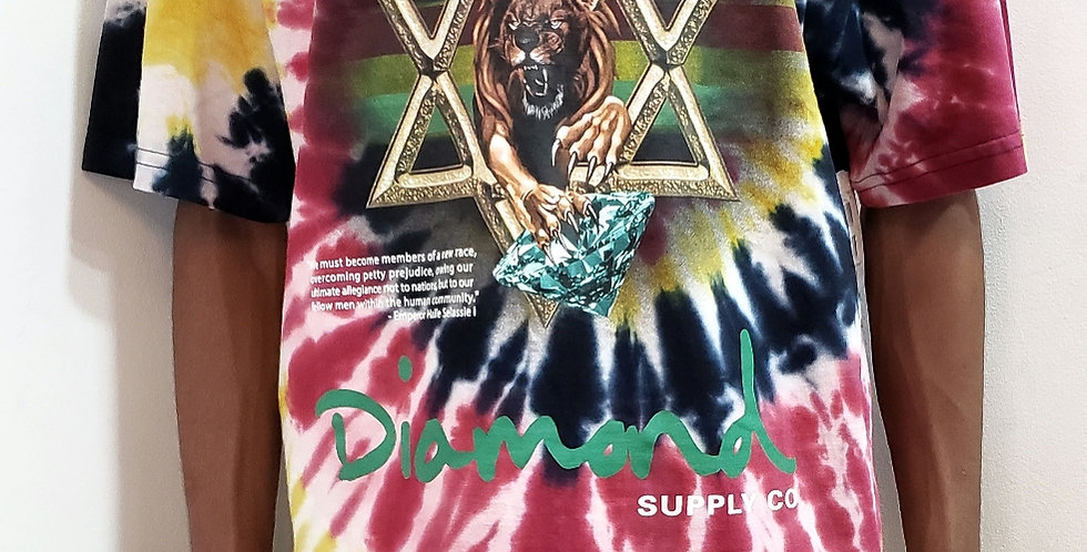 Camiseta Diamond Star of David Tie Dye Tee - MultiColors