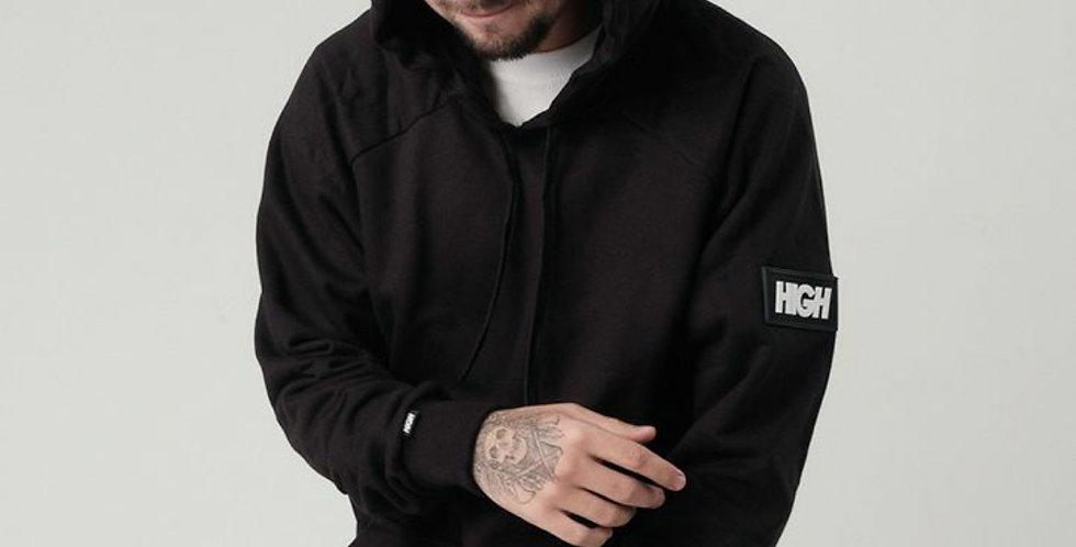Moletom HIGH Big Patch Hoodie - Black