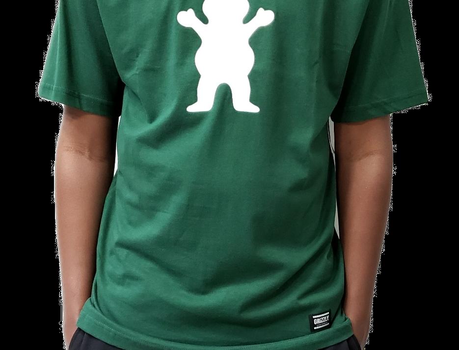 Camiseta Grizzly OG Bear Logo - Green
