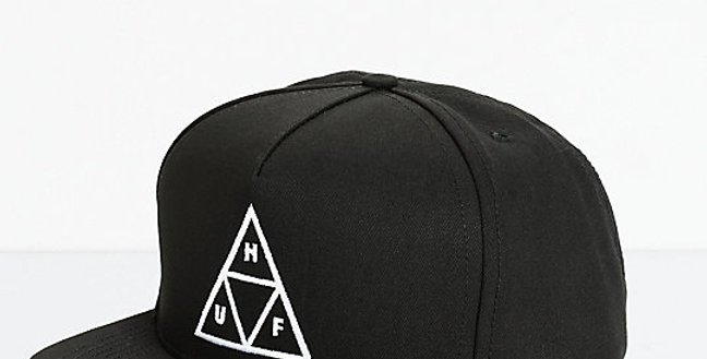 Boné HUF Triple Triangle Snapback - Black