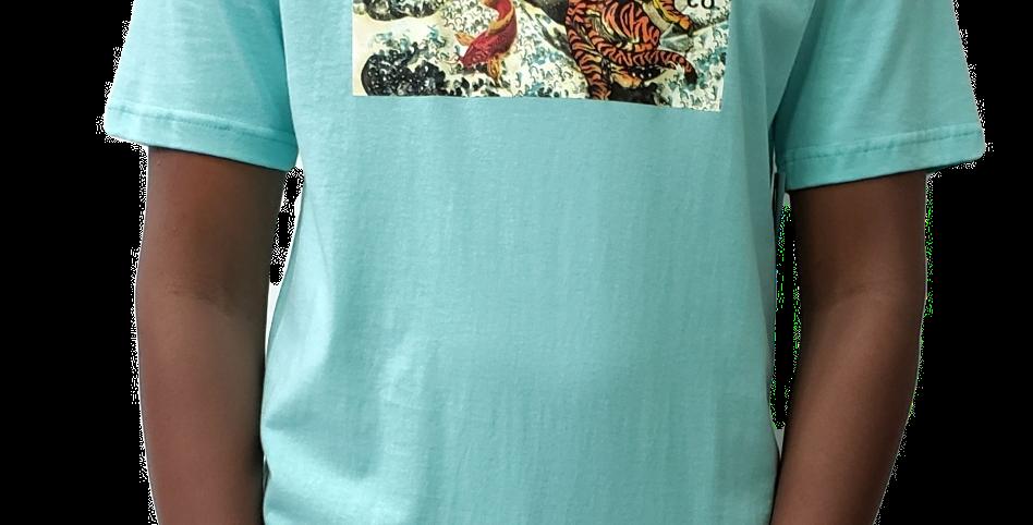 Camiseta Diamond Tiger Wave Ter - Blue Diamond