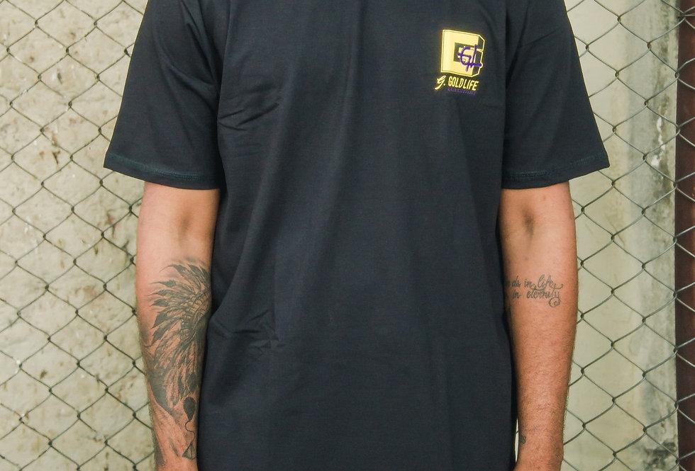 Camiseta Gold Life YO! - Black