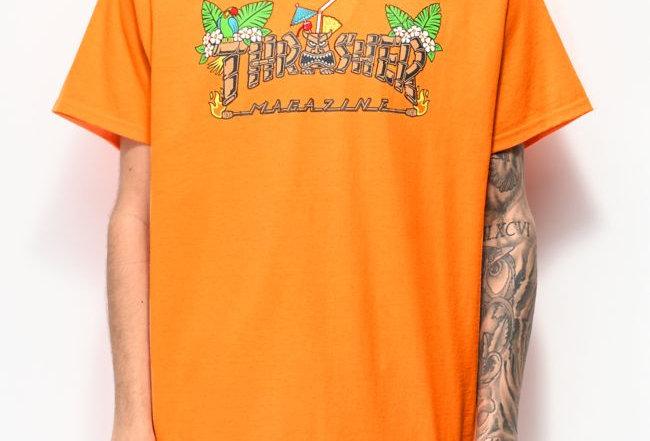 Camiseta Thrasher Tiki - Orange