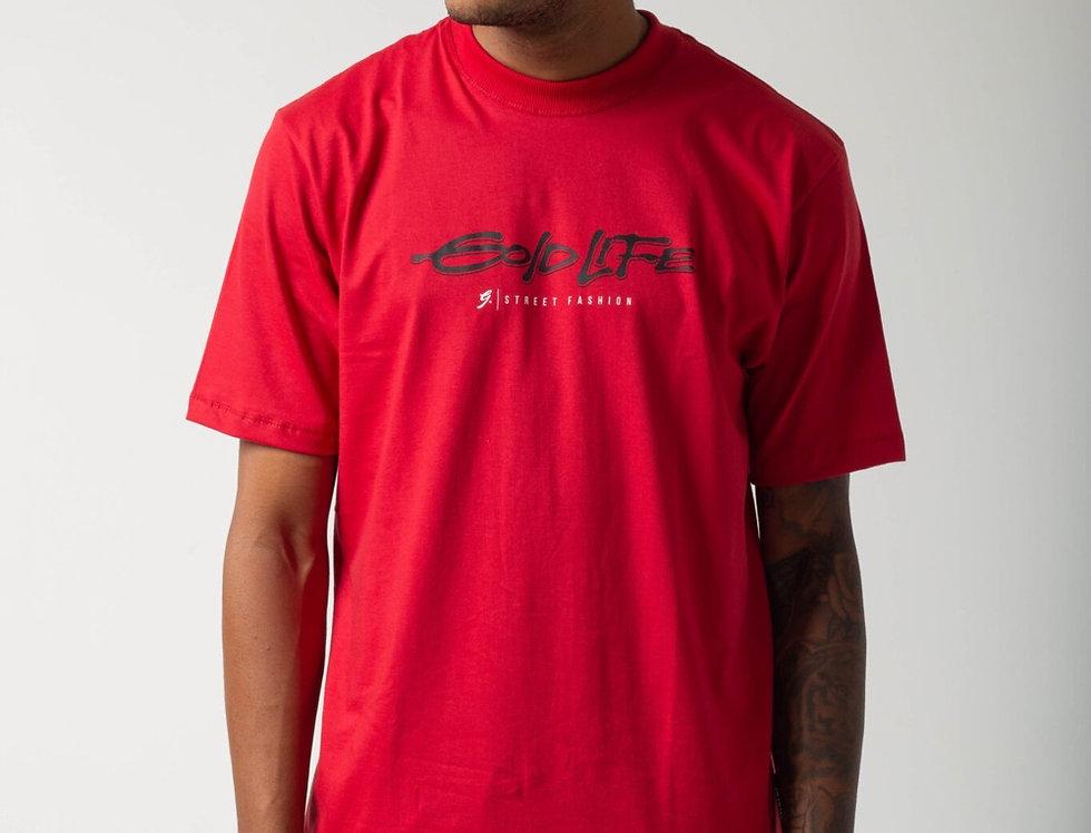 Camiseta Gold Life Malibu - Red