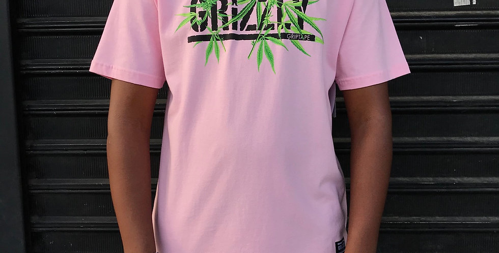Camiseta Grizzly Seeds Stamp Tee - Pink