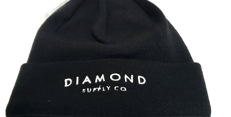 Gorro Diamond Supply Co Script Logo Beanie - Black