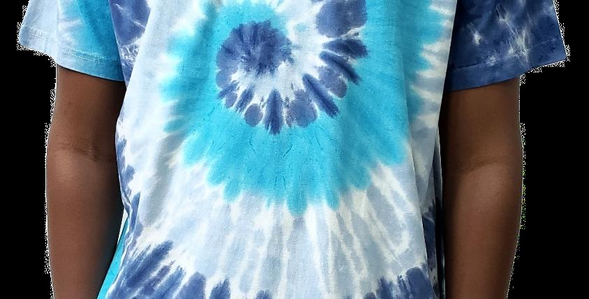 Camiseta HUF Worldwide Tie Dye Tee - Blue