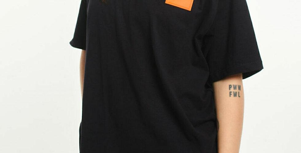 Camiseta Gold Life Orange Patch - Black