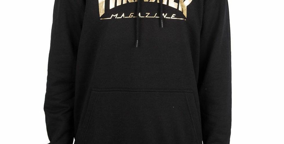 Moletom Thrasher Mag Gold Foil Logo Hoodie - Black