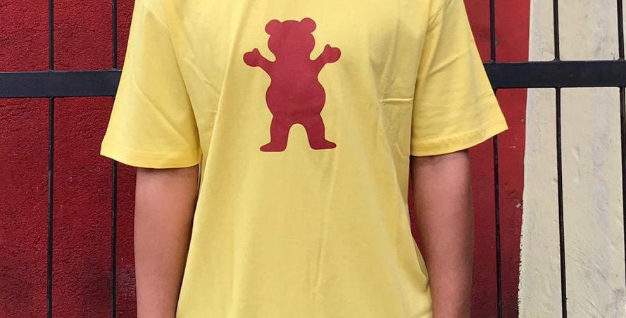 Camiseta Grizzly OG Bear Logo - Banana