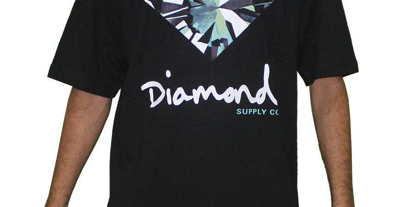Camiseta Diamond Simplicity Sign Tee - Black