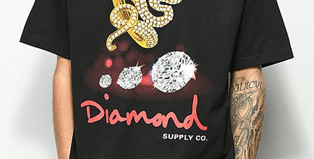 Camiseta Diamond Snake Tee - Black