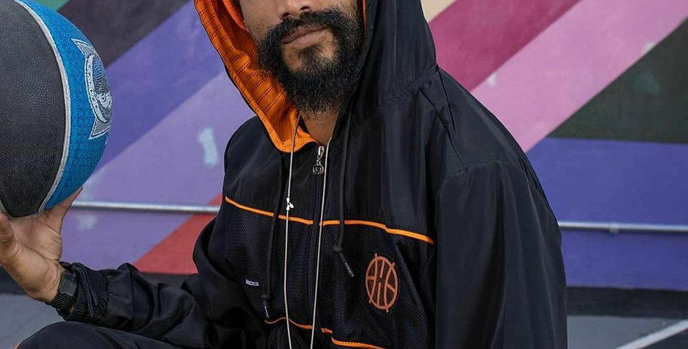 Corta Vento Hocks Cesta - Black Orange