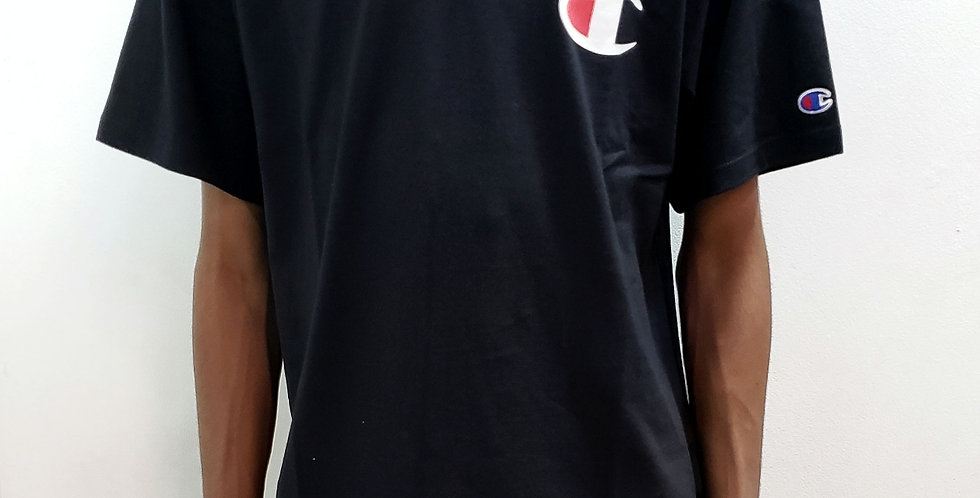 Camiseta Champion C Logo Ink - Black