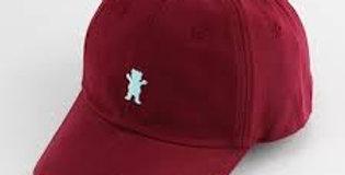Boné Grizzly OG Bear Logo Dad Hat Strapback - Burgundy
