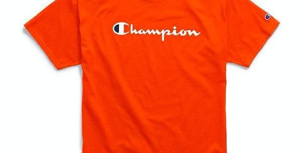 Camiseta Champion Script Logo Ink - Orange