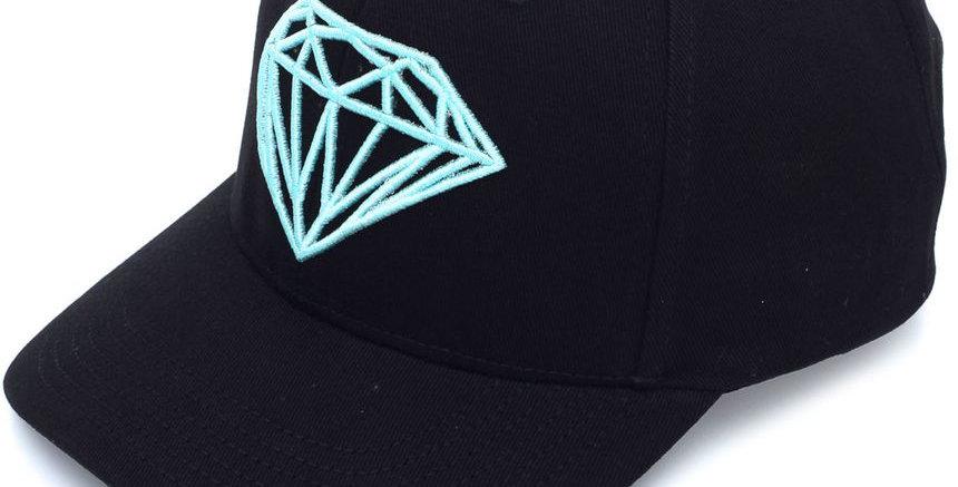Boné Diamond OG Brilliant Baseball Snapback - Black