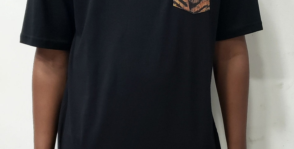 Camiseta Grizzly Tiger Pocket - Black