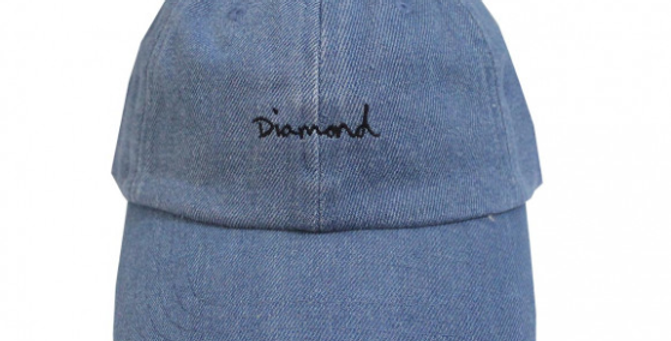 Boné Diamond OG Script Dad Hat Strapback - Denim