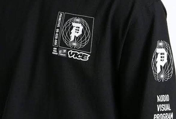 Camiseta Long Sleeve Primitive x Vice Feed Tee -  Black
