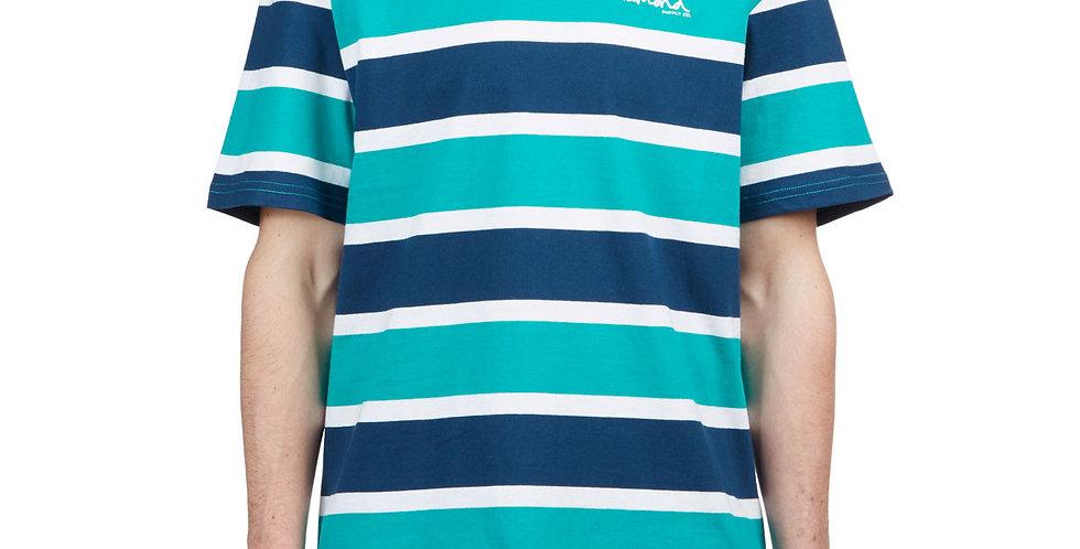 Camiseta Diamond Mini OG Script Striped Tee - Navy Green