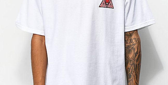 Camiseta HUF x Spitfire Triple Triangle - White