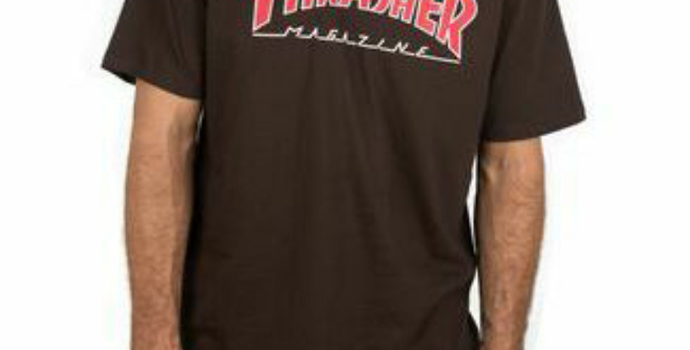 Camiseta Thrasher Outlined - Chocolate