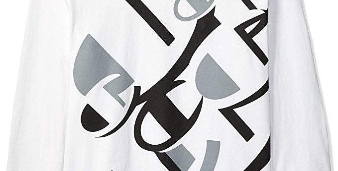 Camiseta Champion Long Sleeve Heritage Graphics Tee - White