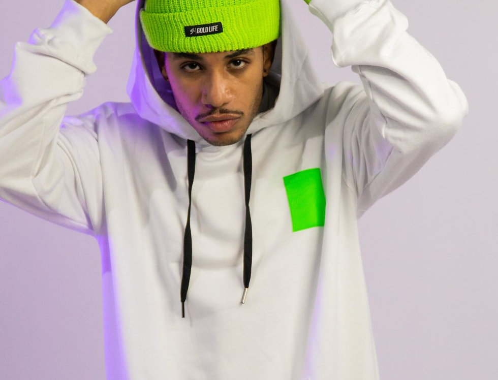 Moletom Gold Life Patch Green Hoodie - White