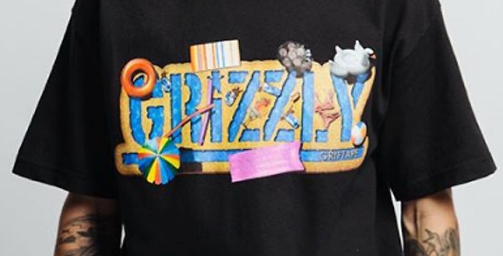 Camiseta Grizzly Pool Party - Black