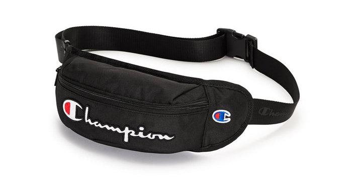 Pochete Champion Supercize Waist Pack Script Logo - Black