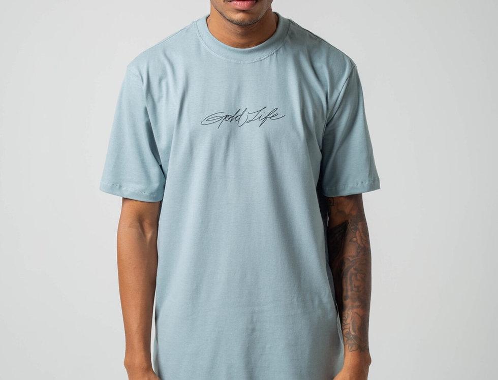 Camiseta Signature Gold Life - Clean Blue
