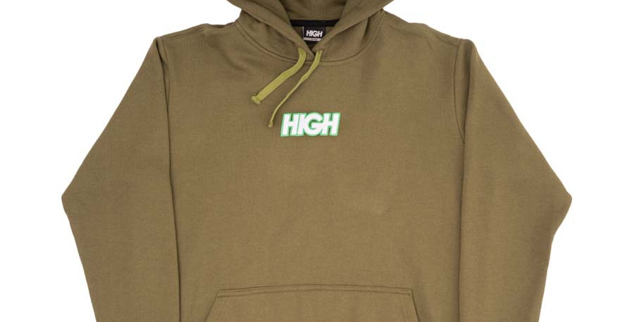Moletom High Hoodie Logo Colored Olive - Green