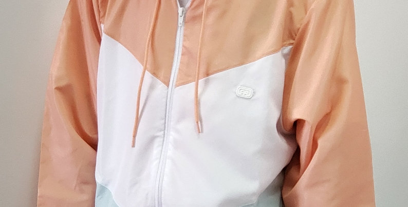 Corta Vento Hocks Tríplice - Orange/White/Aqua