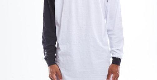 Camiseta Long Sleeve Gold Life B Side - Black & White