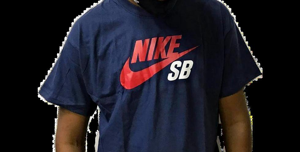 Camiseta Nike SB Logo Icon Tee - Navy