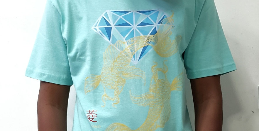 Camiseta Diamond Pond Tee - Celadon