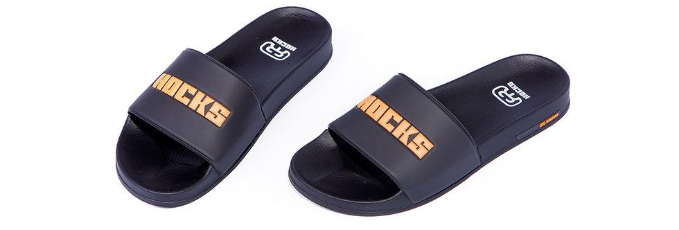 Chinelo Hocks Slide - Black Orange