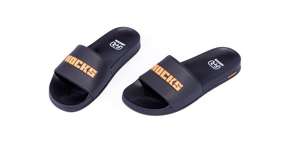 Chinelo Hocks Slide - Black-Orange