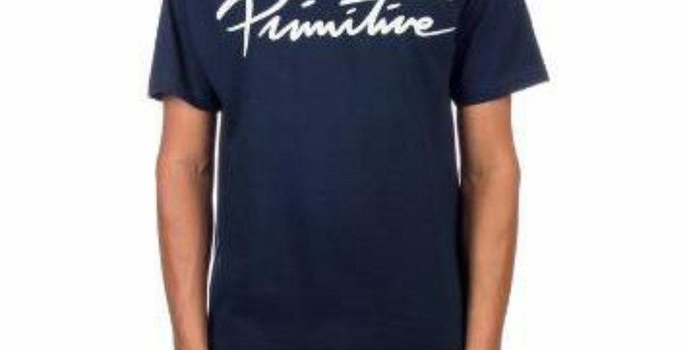 Camiseta Primitive Nuevo Script Core Tee - Navy
