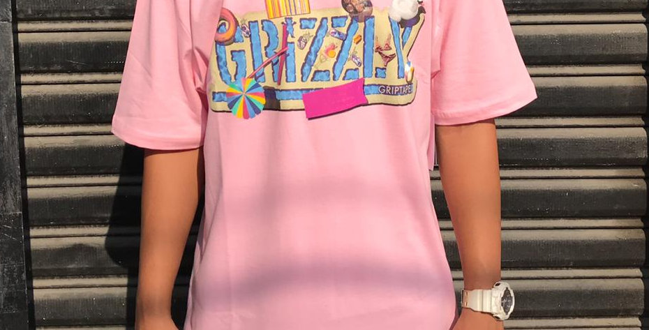 Camiseta Grizzly Pool Party Tee - Pink