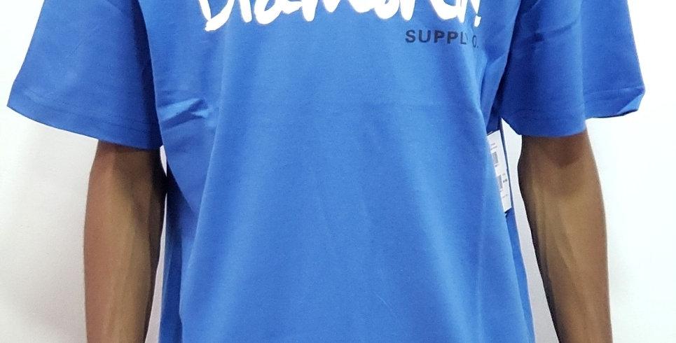 Camiseta Diamond Supply OG Script Tee - Royal