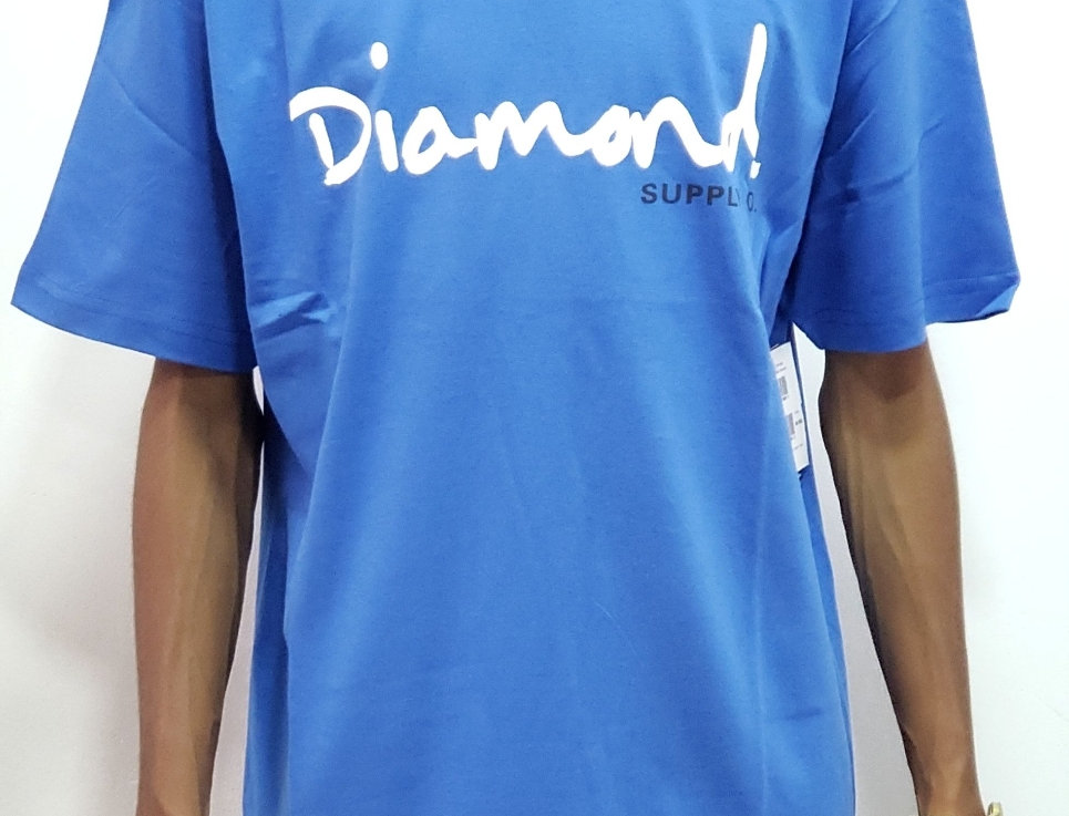Camiseta Diamond Supply OG Script Tee - Royal