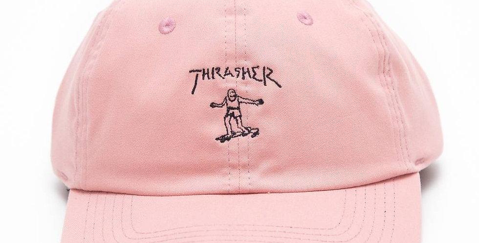 Boné Thrasher Gonz Old Timer Dad Hat Strapback - Pink