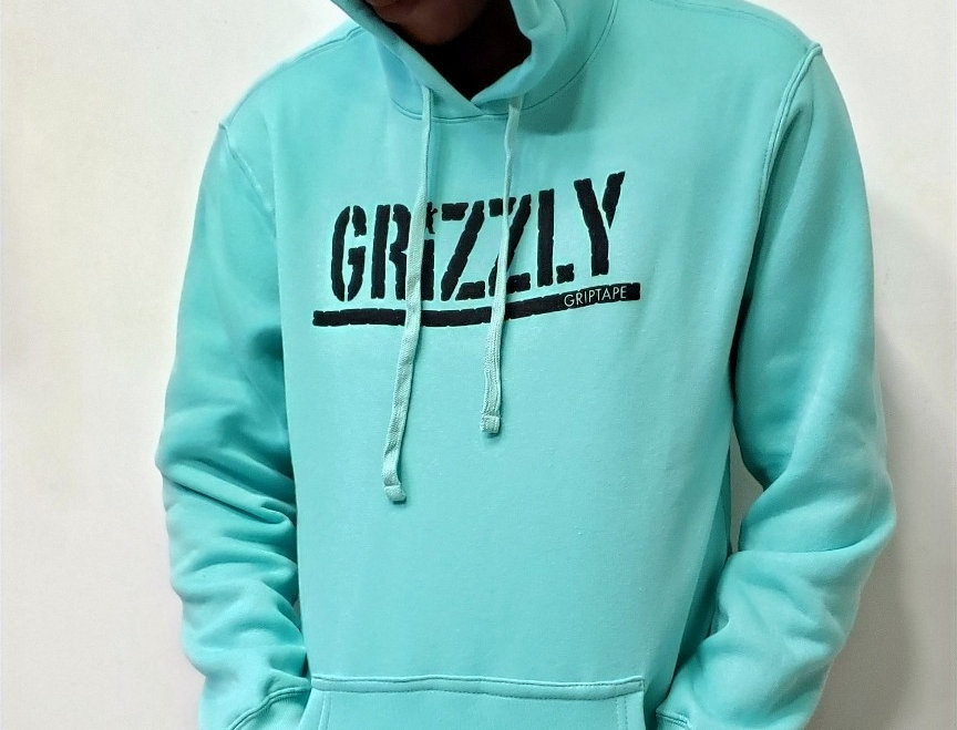 Moletom Grizzly Stamped Hoodie - Celadon