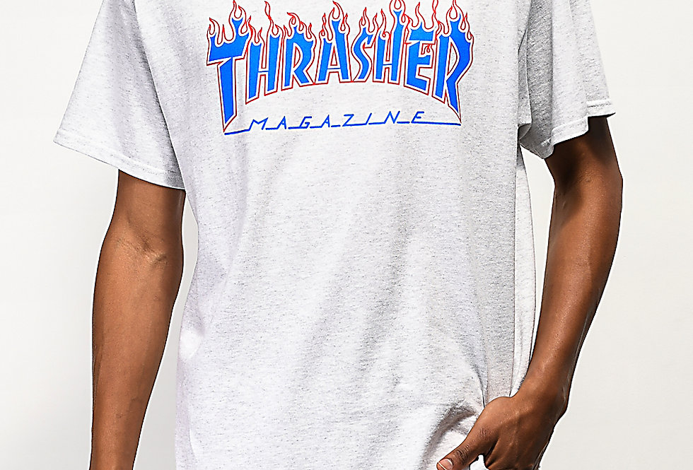 Camiseta Thrasher Mag PATRIOT - White Grey