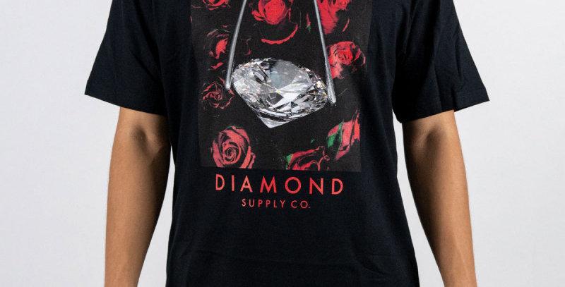 Camiseta Diamond Rose Tee - Black